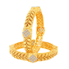 Sukkhi Exquitely Gold Plated Bangles For Women Set Of 2