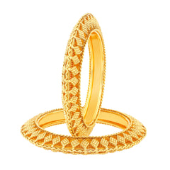Sukkhi Glittery Gold Plated Bangles For Women Set Of 2