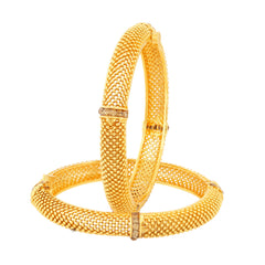 Sukkhi Classic Gold Plated Bangles For Women Set Of 2
