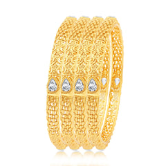Sukkhi Brilliant Gold Plated Bangles For Women Set Of 4