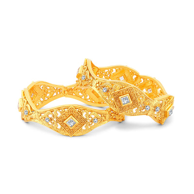 Sukkhi Magnificent Gold Plated Bangles For Women Set Of 2-1
