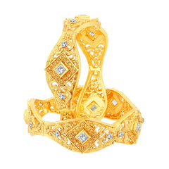 Sukkhi Magnificent Gold Plated Bangles For Women Set Of 2