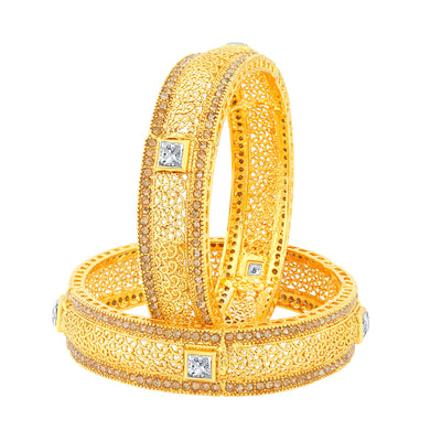 Sukkhi Traditionally Gold Plated Bangles For Women Set Of 2