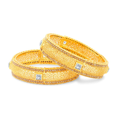 Sukkhi Traditionally Gold Plated Bangles For Women Set Of 2-1