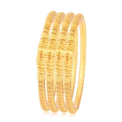 Sukkhi Attractive Gold Plated Bangles For Women Set Of 4