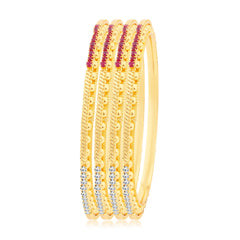 Sukkhi Intricately Crafted Gold Plated Bangles For Women Set Of 4
