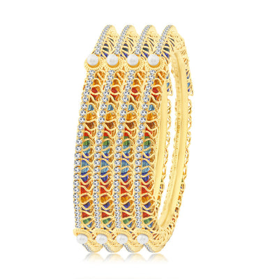 Sukkhi Incredible Gold Plated Bangles For Women Set Of 4