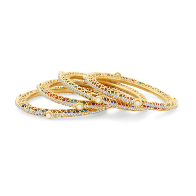Sukkhi Incredible Gold Plated Bangles For Women Set Of 4-1