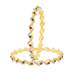 Sukkhi Modish Gold Plated Bangles For Women Set Of 2