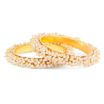 Sukkhi Ravishing Gold Plated Pear Bangle Set for Women - 2.4