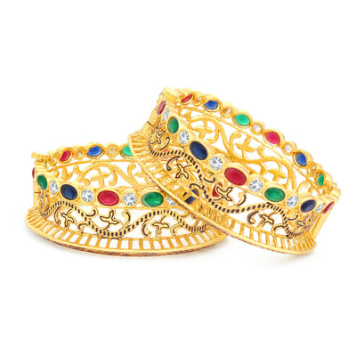 Sukkhi Charming Gold Plated Bangle Set For Women (Set of 2)