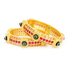 Sukkhi Dazzling LCT Gold Plated Bangle Set For Women (Set of 2)