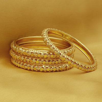 Sukkhi Stunning Gold Plated Bangle For Women (Set of 4)