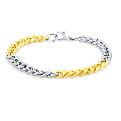 Sukkhi Incredible Gold & Rhodium Plated Bracelet For Men