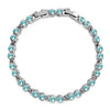Sukkhi Astonish Rhodium Plated Blue Bracelet for women