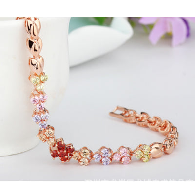 Sukkhi Sleek Crystal Stone Gold Plated Multi Colour Bracelet for Women