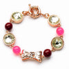 Sukkhi Glimmery Crystal Stone Gold Plated Multi Colour Bracelet for Women