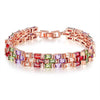Sukkhi Graceful Adjustable Crystal Multi Colour Gold Plated Bracelet for Women