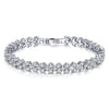 Sukkhi Resplendent Adjustable Crystal Rhodium Plated Bracelet for Women