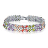 Sukkhi Shimmering Adjustable Crystal Multi Colour Rhodium Plated Bracelet for Women