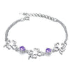 Sukkhi Astonish Floral Crystal Rhodium Plated Bracelet for Women