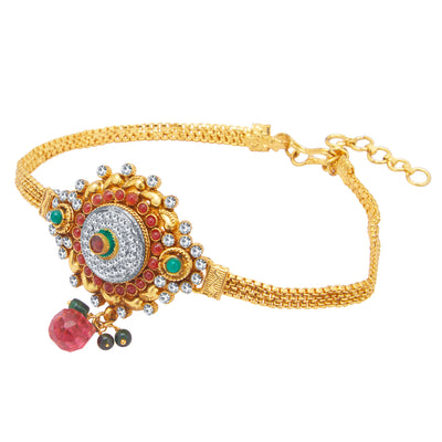 Sukkhi Artistically Gold Plated Bajuband For Women