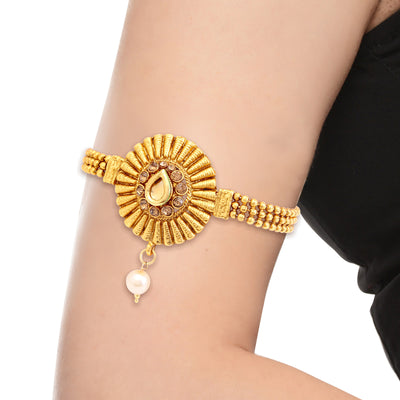 Sukkhi Incredible Gold Plated LCT Stone Bajuband For Women-1