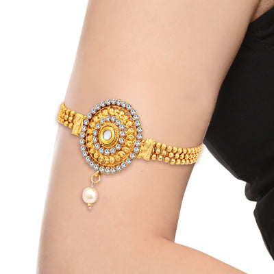 Sukkhi Marvellous Gold Plated AD Bajuband For Women-1
