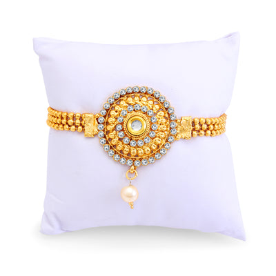 Sukkhi Marvellous Gold Plated AD Bajuband For Women-2