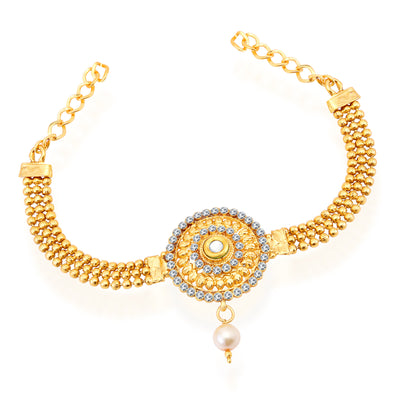Sukkhi Marvellous Gold Plated AD Bajuband For Women