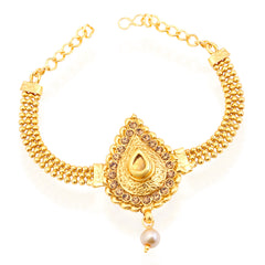 Sukkhi Glimmery Gold Plated LCT Stone Bajuband For Women