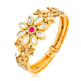 9999 Sukkhi Floral Design Gold Plated Kada for Women