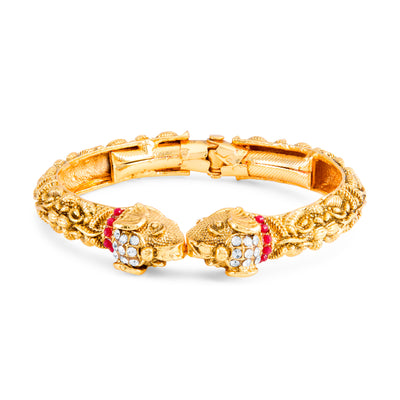 Sukkhi Elephant Inspired Gold Plated Kada for Women