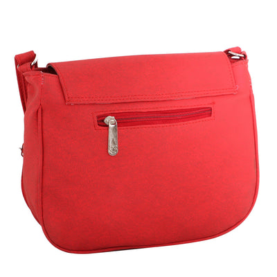 Sukkhi Unique Red Sling Bag-1