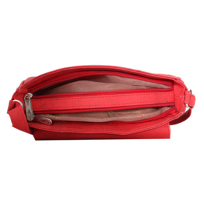 Sukkhi Unique Red Sling Bag-2