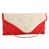Sukkhi Glamorous Red & White Clutch Handbag