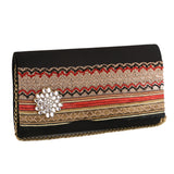 Sukkhi Embellished Matte Black Clutch Handbag