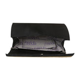 Sukkhi Embellished Matte Black Clutch Handbag-2