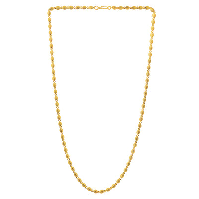 Sukkhi Dazzling Gold Plated Leafy Unisex Link chain