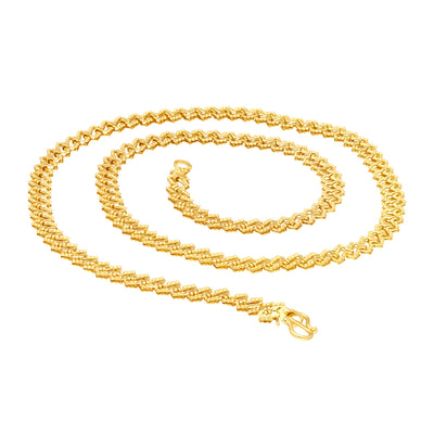 Sukkhi Modish Gold Plated Unisex chain