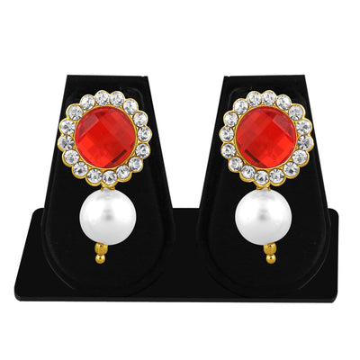 Sukkhi Marquise Pearl Gold Plated Set of 3 Pair Drop Earring Combo For Women-3