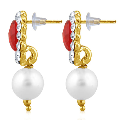 Sukkhi Marquise Pearl Gold Plated Set of 3 Pair Drop Earring Combo For Women-4