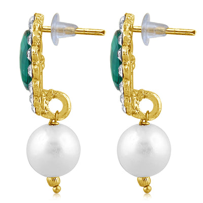 Sukkhi Marquise Pearl Gold Plated Set of 3 Pair Drop Earring Combo For Women-10