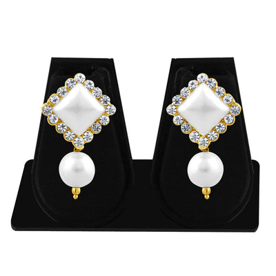 Sukkhi Exquisite Pearl Gold Plated Set of 3 Pair Drop Earring Combo For Women-6