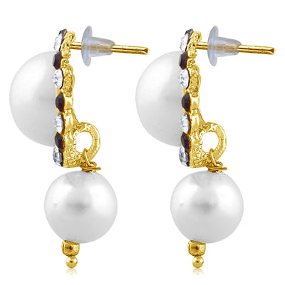 Sukkhi Exquisite Pearl Gold Plated Set of 3 Pair Drop Earring Combo For Women-4