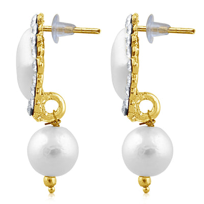 Sukkhi Exquisite Pearl Gold Plated Set of 3 Pair Drop Earring Combo For Women-7