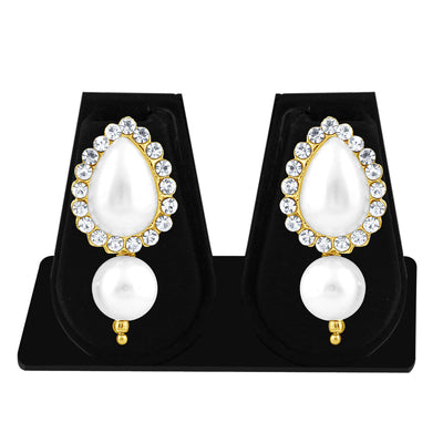 Sukkhi Shimmering Pearl Gold Plated Set of 3 Pair Drop Earring Combo For Women-3