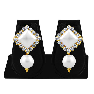 Sukkhi Shimmering Pearl Gold Plated Set of 3 Pair Drop Earring Combo For Women-6