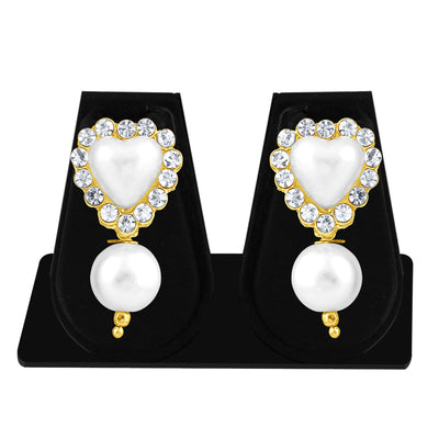 Sukkhi Shimmering Pearl Gold Plated Set of 3 Pair Drop Earring Combo For Women-9