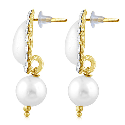 Sukkhi Shimmering Pearl Gold Plated Set of 3 Pair Drop Earring Combo For Women-4